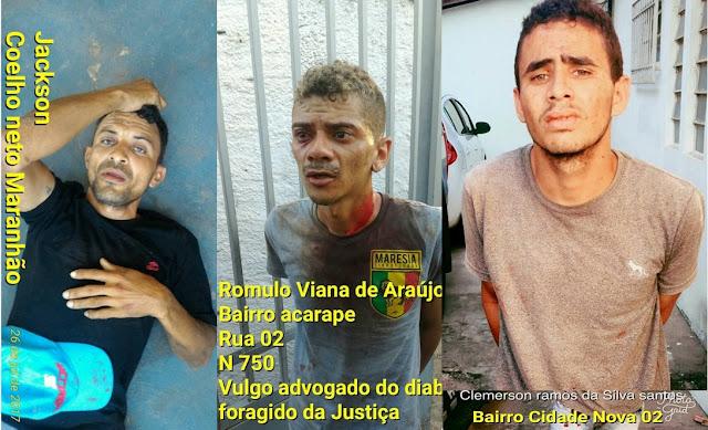 Presos assaltantes que mataram capitão da PM do Piauí na cidade de Timon-MA