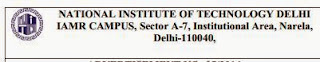 NIT,Delhi Recruitment 2014