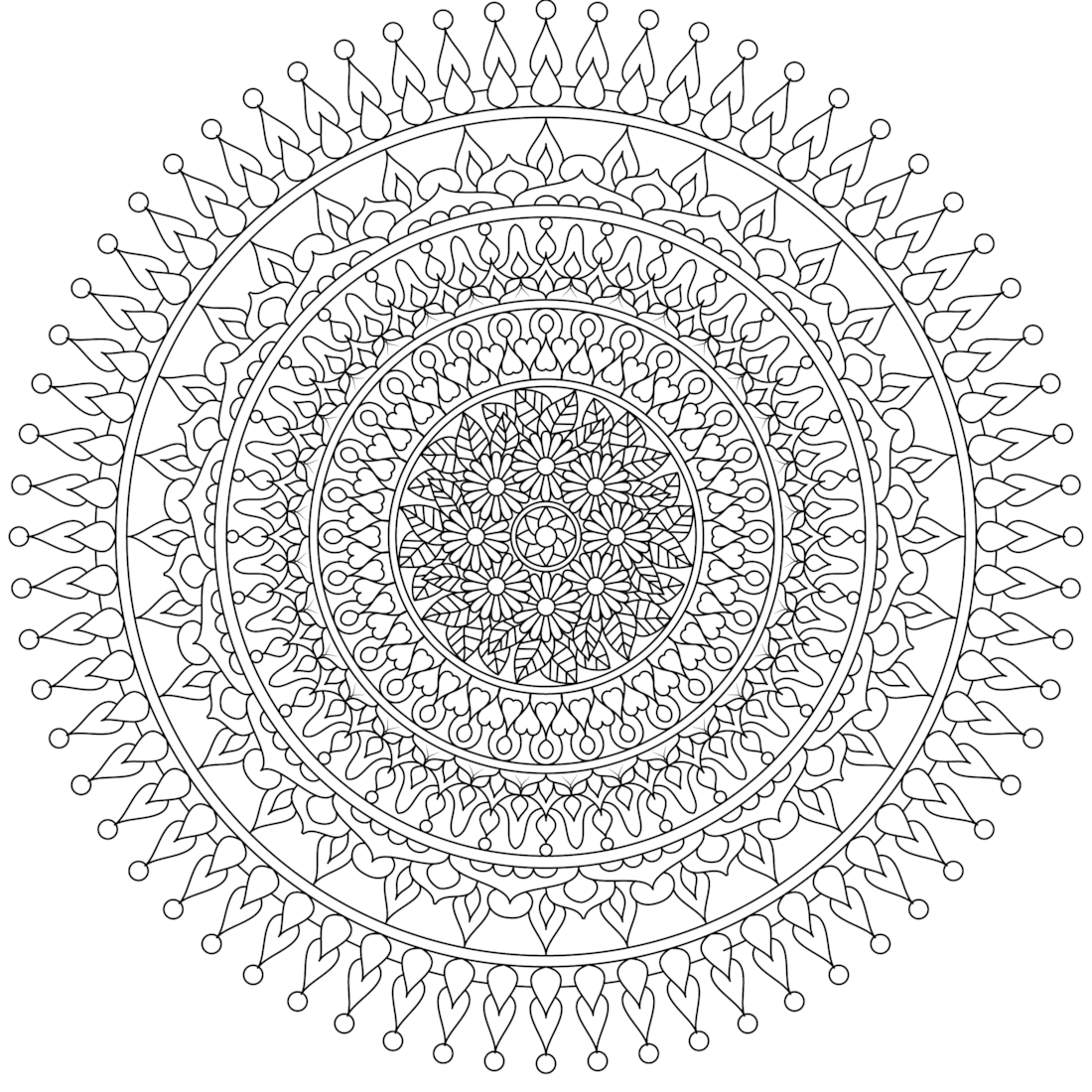 best hd moon mandala coloring pages drawing big collection free printable coloring. Black Bedroom Furniture Sets. Home Design Ideas