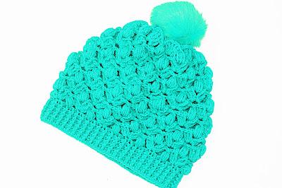 Foto Imagen gorro azul de ganchillo y crochet