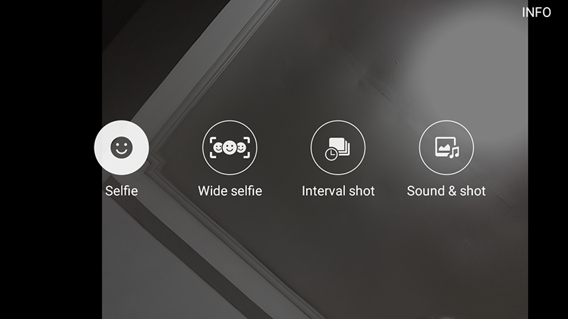 Selfie camera options