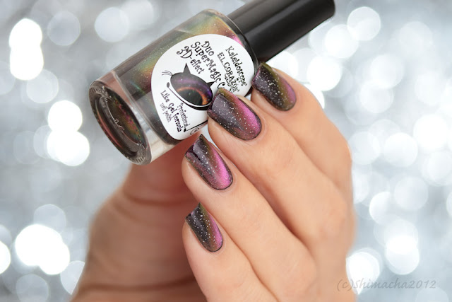 Kaleidoscope Magnetic nail polish -Cat's eye- Duo SuperMagic Cats