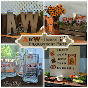 A&W Themed Backyard Engagement Party