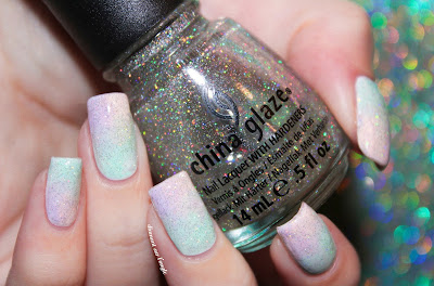 Fairy Unicorn Sponging Nail Art