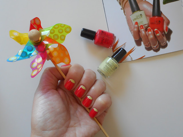 CND Vinulux Weekly Polish Rhythm & Heat Collection, nails with Mambo Beat and Sugar Cane