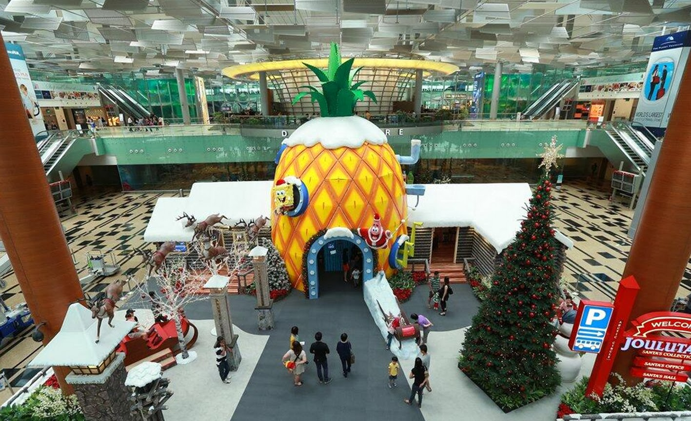 Spongebob And Friends Have Invaded Changi Airport This