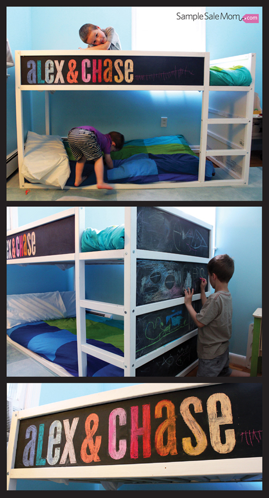 Sample Sale Mom Blog Ikea Kura Bed Makeover With