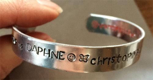 aluminium slagletter armband