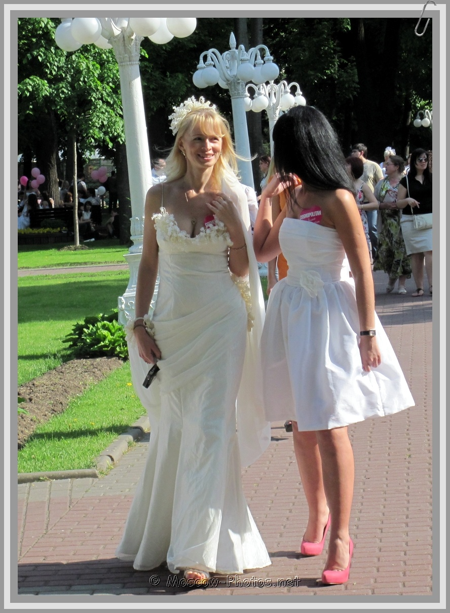 Blonde and Brunette Moscow Runaway Brides
