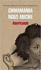 Book cover for Chimamanda Ngozi Adichie's Americanah in the South Manchester, Chorlton, and Didsbury book group