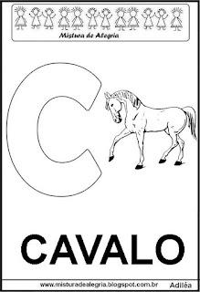 Alfabeto cartaz letra C