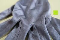 außen Finger Hand: WHITE LOTUS Sexy SEIDEN-HANDSCHUHE Kleidung für Frauen | Elegante Rohseide zur Isolierung der Hände und Entzündungs-Schutz ohne sie zu zeigen | Präsentiert in luxuriöser Geschenk-Box - Grau