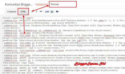 memasang sitemap keren di blogspot