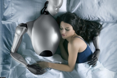 Satisfecha, luego del sexo con un robot