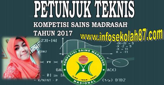 Juknis Kompetsi Sain Madrasah (KSM) Tahun 2017