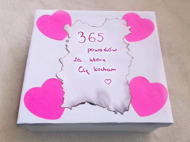 Prezent DIY - 365 powodów, za które Cię kocham ♥