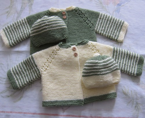 Garter Stitch Baby Jackets for Twins! - Free Pattern