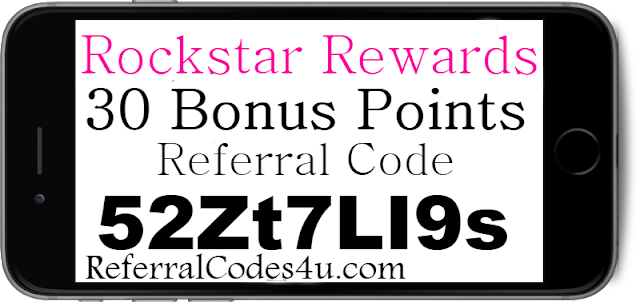 30 Bonus Points Rockstar Rewards App Referral Code, Invite Code and Reviews 2018-2019