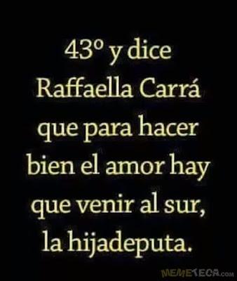 Raffaella Carrá , para hacer bien el amor hay que venir al sur