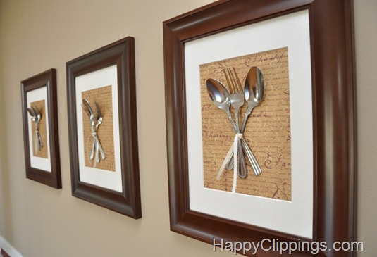 Little Inspirations: Silverware Wall Art
