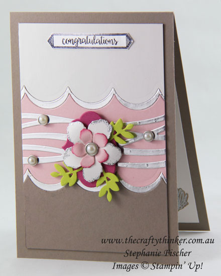 Lovely Laurel, Pearl Anniversary Card, Sneak Peek 2017 Annual Catalogue, Swirly Scribbles, #thecraftythinker, Stampin Up Australia Demonstrator, Stephanie Fischer, Sydney NSW