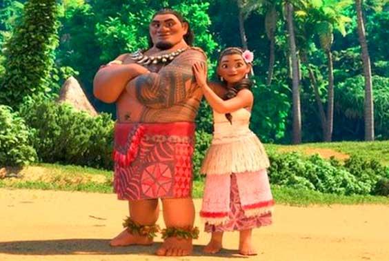 Moana e o Pai figurino