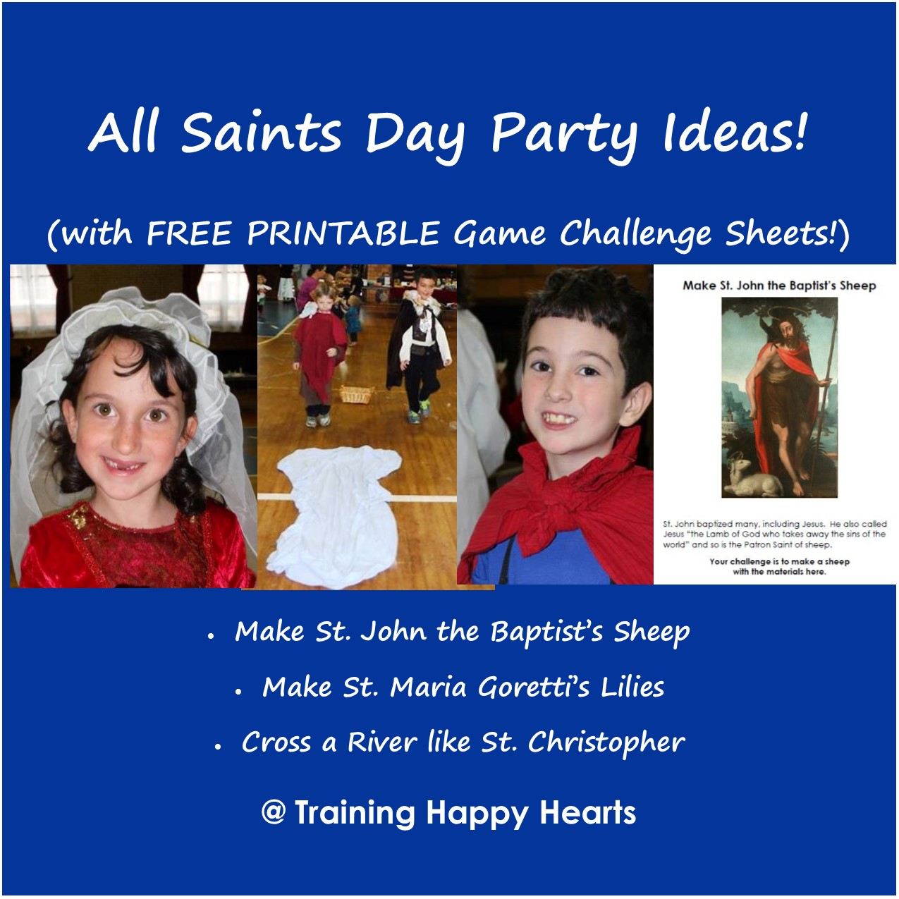 Training Happy Hearts 2 All Saints Day Craft Challenges