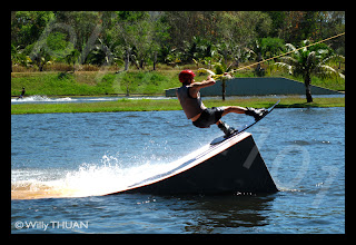 Wakeboard jump in Phuke