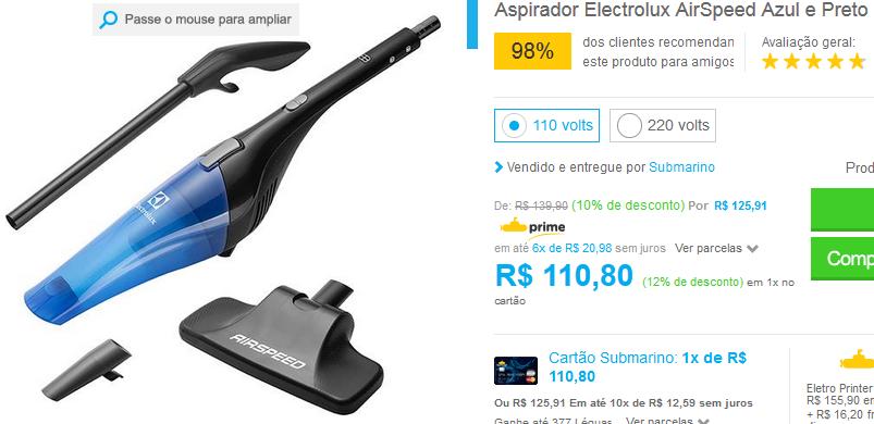 www.submarino.com.br/produto/122372099/aspirador-electrolux-airspeed-azul-e-preto?opn=COMPARADORESSUB&franq=AFL-03-171644