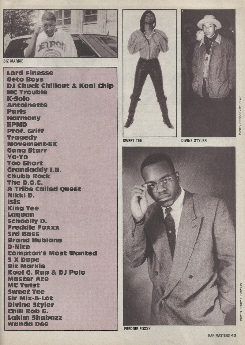 Rap Masters: The Most Underrated Rappers List (1991)