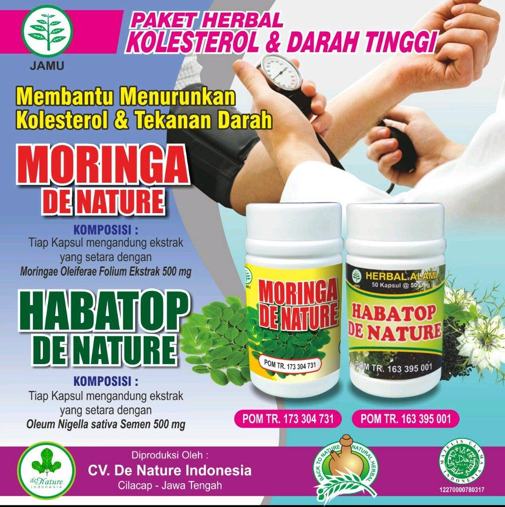 obat darah tinggi hipertensi de nature herbal moringa habatop