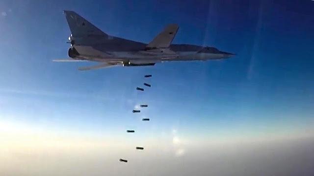 Seis aviones militares procedentes de Rusia atacan instalaciones del Estado Islámico en Siria