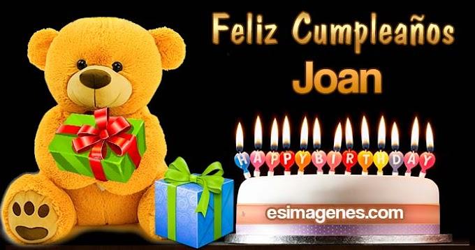 Feliz cumpleaños Joan
