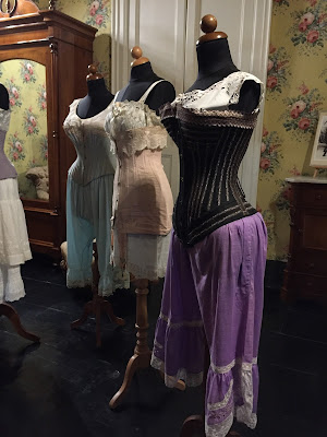A display on the corset at Castello di Donnafugata.