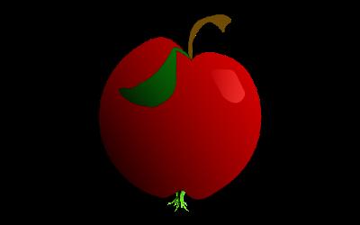 gambar clipart buah apel