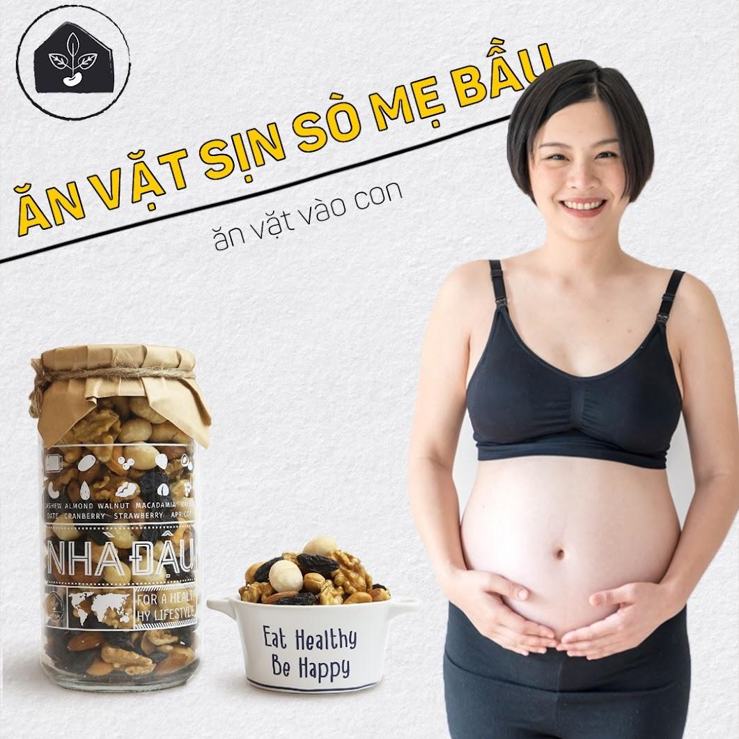Bữa phụ với hạt dinh dưỡng giúp ngừa thiếu chất cho Mẹ Bầu