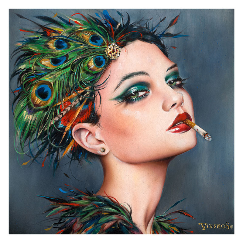 03-Feathers-Brian-M-Viveros-Paintings-of-Femininity-in-the-Eye-of-the-Artist-www-designstack-co