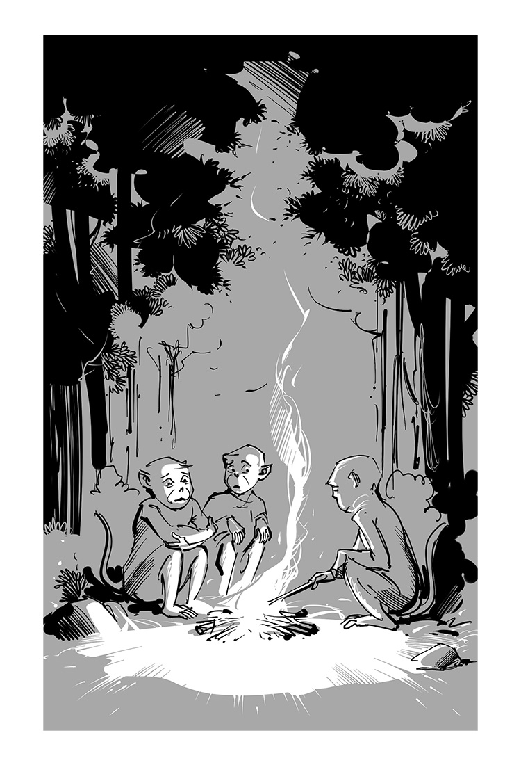 funny kids book cartoon illustration