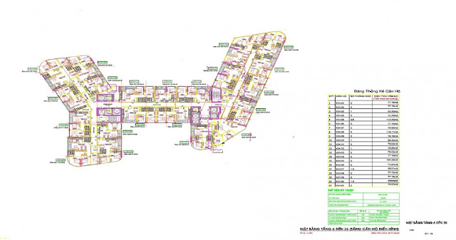 Mặt bằng tổng thể dự án 273 Tây Sơn