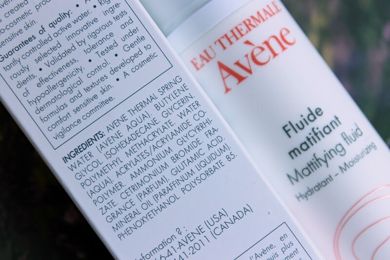 AVENE MATTIFYING FLUID review avene matirajući fluid recenzija ingredients sastojci