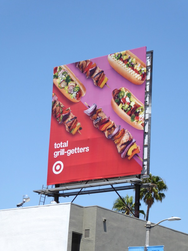 Target Total grill-getters food billboard