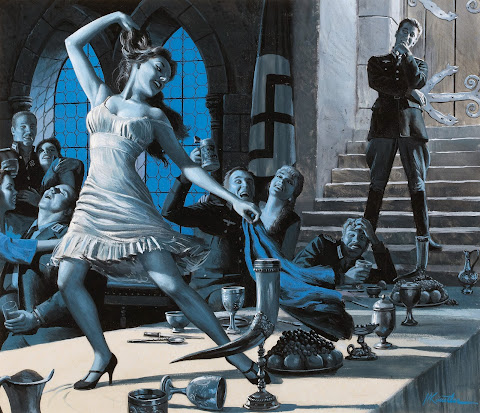 Mort Kunstler, The Frauleins of Relaxation House, Male illustration, July 1959