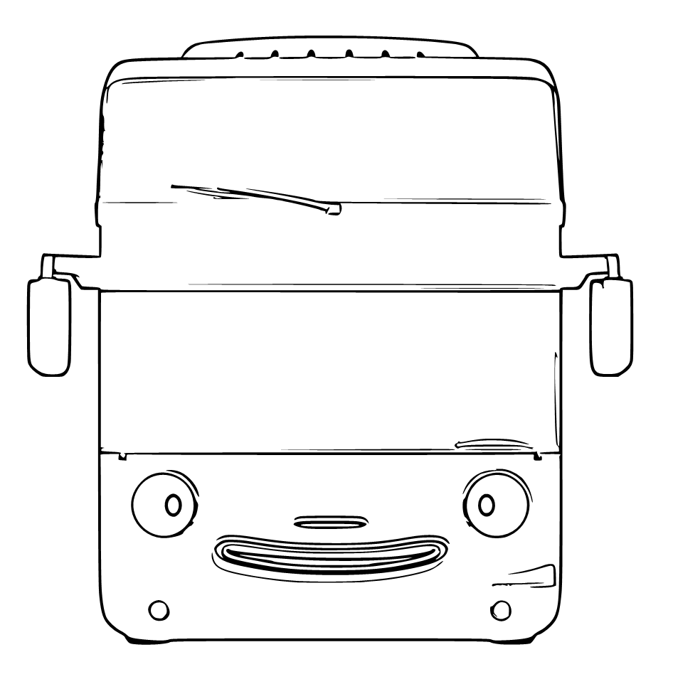 Mewarnai Gambar Bus Tayo Bertingkat Aneka Mewarnai Gambar