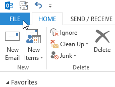 Import and Export Contacts into Outlook Account