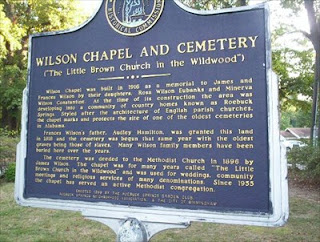 Wilson Chapel and Cemetry Information Board
