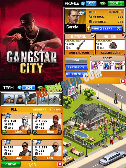 Gangstar City for Nokia N8 & Belle smartphones - Free Game Download