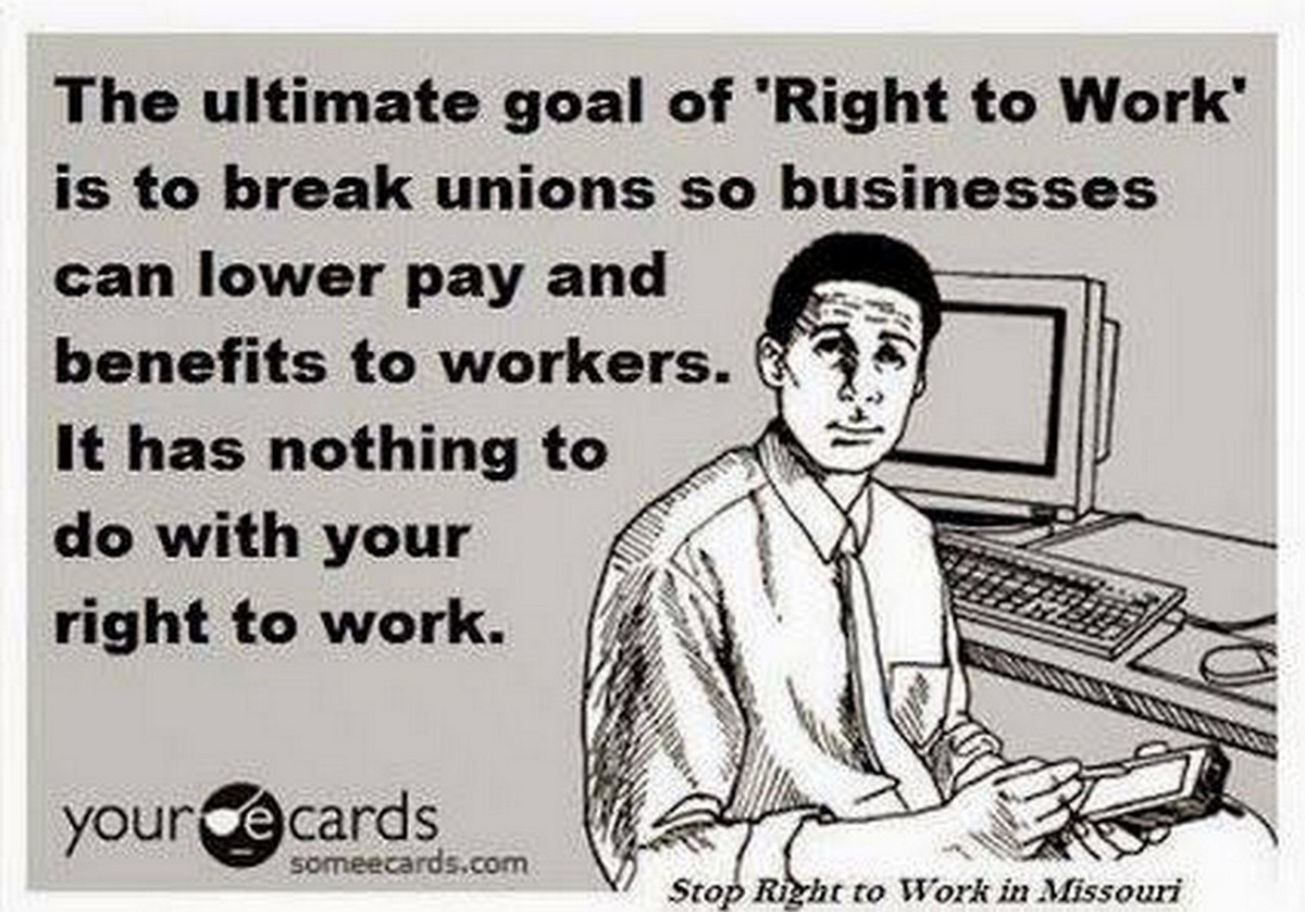 right to work laws Wages in right-to-work (rtw) nor do rtw laws have anything to do with the right to have a job or be provided employment at their core.