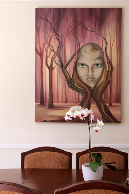 indoor plant phalaenopsis orchid with art piece sheandme blog