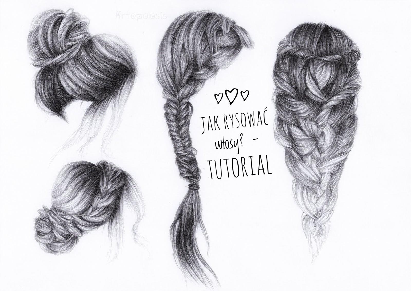 Jak Rysować Włosy Tutorial