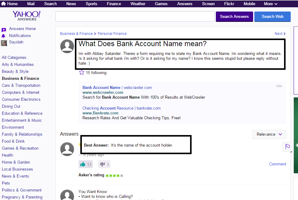 Account Name: Bank Account Name Pictures To Pin On Pinterest